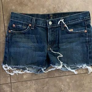 7 for all Mankind denim shorts. 28